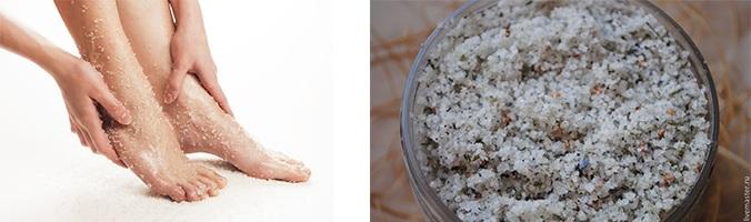 Как приготовить скраб для ног дома