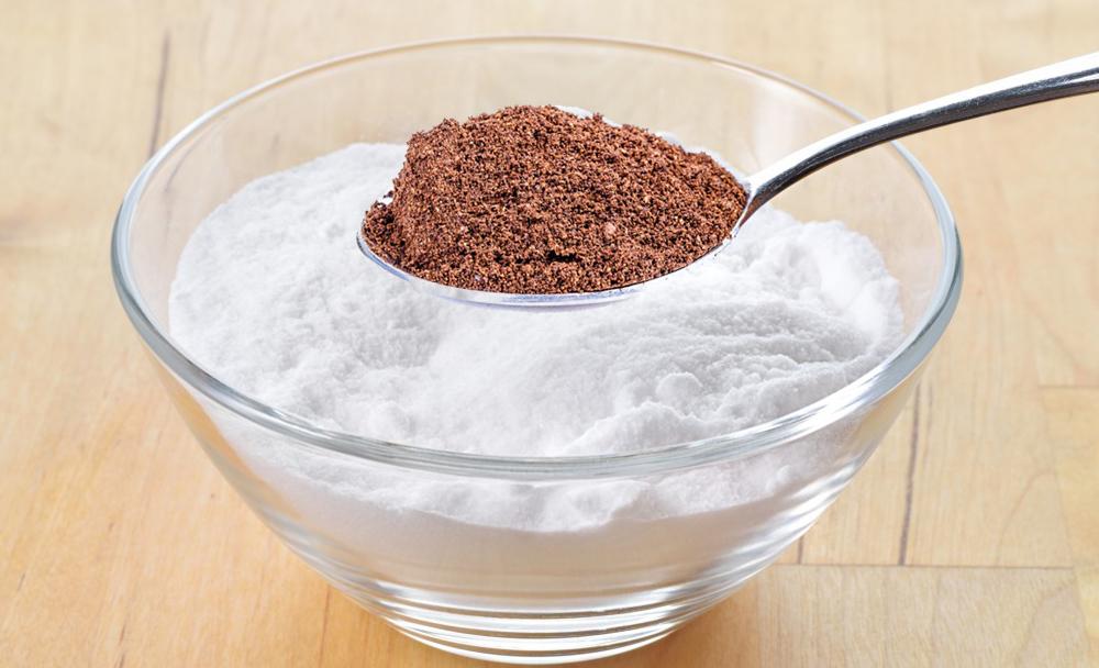 Удаление волос кофейной гущей и содой
