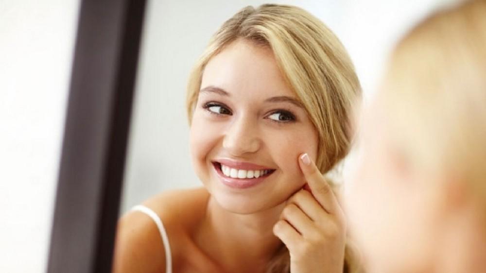 Эффект после содово-солевого скраба для лица